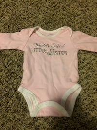 Baby's white and pink onesie Raleigh, 27609
