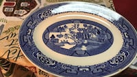 White and blue ceramic plate Schenectady, 12306