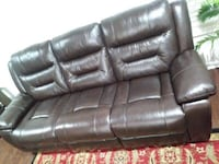 Real genuine Italian leather recliner sofa loveseat and chair brown  Gaithersburg, 20878