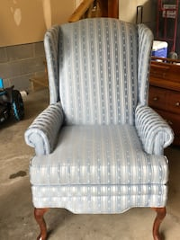 gray and white striped sofa chair Mechanicsville, 23116