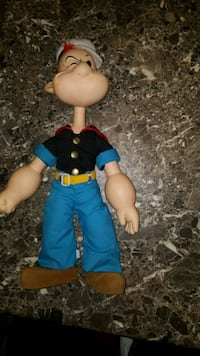 "1985 Popeye plush and plastic plush 18"" toy Bellevue, 44811"