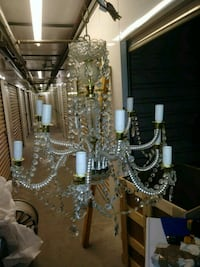 silver and white uplight chandelier Severn, 21144