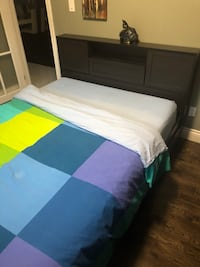 Queen bed almost new with mattress Toronto, M6N