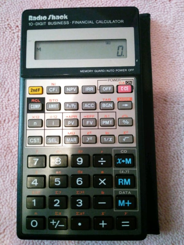 Radio shack business calculator 0