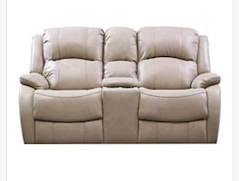Love seat couch power recliner cream color