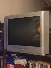 gray widescreen CRT television with remote Calgary, T2X 1H8