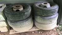 """LT 225/75R 16. 6 tires mounted on 6  16"""" x 6"""" steel rims fits GM eight lug. Plus the additional six tires still mounted on my truck that I would like to replace with LT 215/85R Harpers Ferry, 25425"""