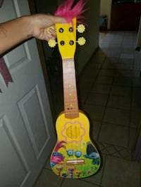yellow and red electric guitar Mission, 78572