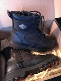 brown Harley-Davidson leather tactical boots with box Buckhannon, 26201