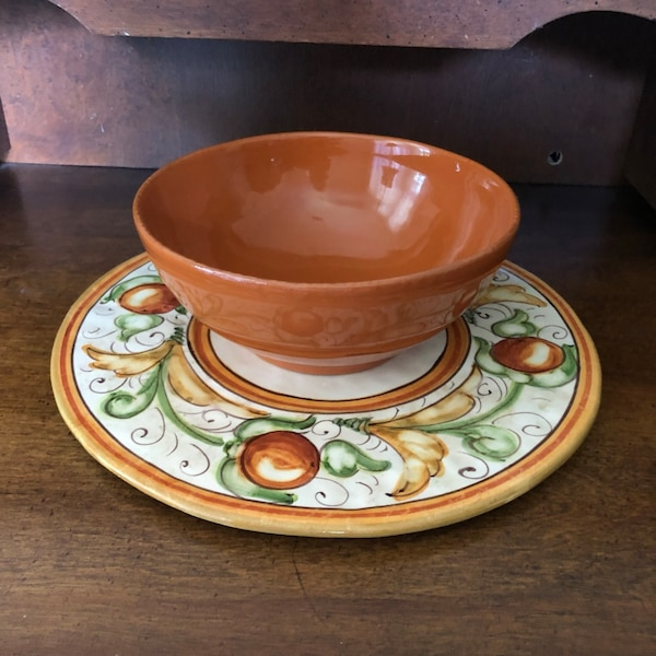 Fall ceramic bowl and plate bcdd43b2-b750-45c1-984c-4bcfdb297939