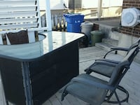 rectangular black wooden table with four chairs dining set Salaberry-de-Valleyfield, J6T 5C2