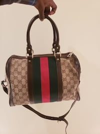 Brown leather Gucci bag Clinton, 20735