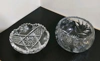 Lot of 2 heavy lead crystal candy bowls / trinklet Toronto, M2J