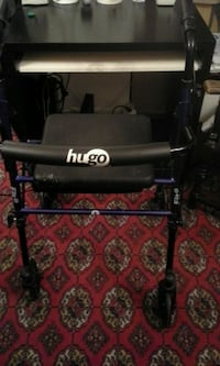 Hugo fit rollator walker with padded seat