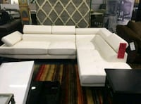 Brand New White Faux Leather Sectional Sofa Couch  Silver Spring, 20910