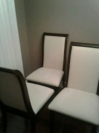 4 espresso chairs with ivory fabric  Mississauga, L4Z