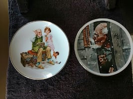 Two Norman Rockwell Plates