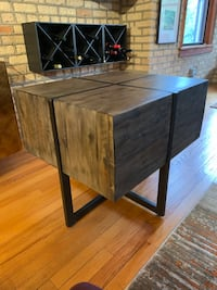 Industrial Wooden Block End Table from Macy's, 75% off Retail Price Chicago, 60626