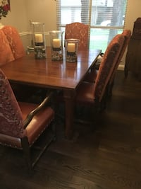 brown wooden dining table with six chairs Corinth, 76210