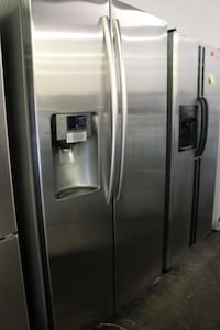 stainless steel side-by-side refrigerator with dispenser Woodbridge, 22191