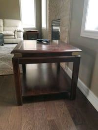 Solid wood coffee table with 2 end tables