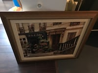 brown wooden framed painting of house Hamilton, L8B 1K5
