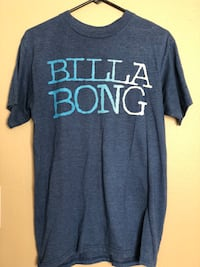 Men's Large Blue and white crew-neck t-shirt