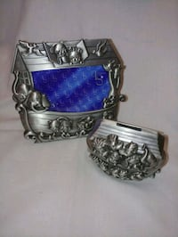 Pewter Frame & Coin Bank