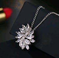 $14 new 20 inch silver plated CZ necklace Ballwin, 63021