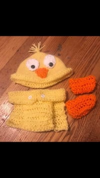 Crochet duck diaper cover hat and booties Linthicum Heights, 21090