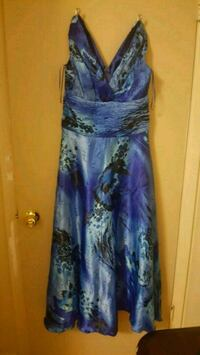 blue and white floral sleeveless dress Windsor, N8R