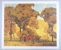 "A.J. Casson Litho 'Autumn Afternoon' 24x20"" Unframed Oakville"