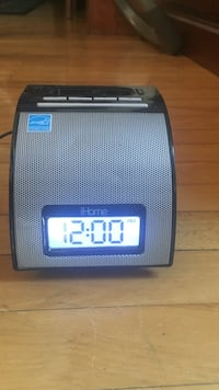 Gray iHome dock speaker with digital clock Hudson, 01749