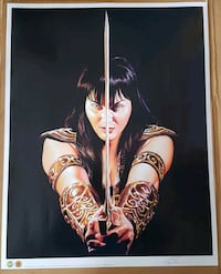 Xena: Warrior Princess Signed Lithograph Calgary, T3J 3J7