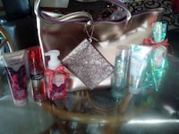 Bath & BodyWorks sets w/ faux leather bag n clutch Akron, 44301