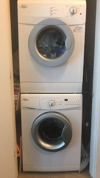 white front-load washer Port Coquitlam, V3C