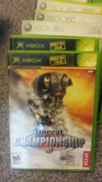 several Xbox game cases