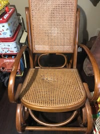Cane back rocking chair