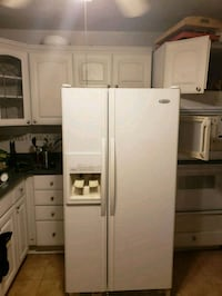 white side-by-side refrigerator with dispenser District Heights, 20747