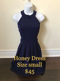 Honey navy blue cocktail party dress size small  Toronto, M9C 1B8