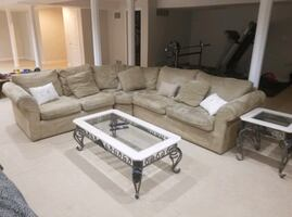 FREE DELIVERY ONLY TODAY -BEAUTIFUL COMFY SECTIONAL COUCH -GREAT COND