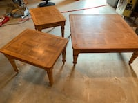 Solid wood coffee table and end tables. Great condition... Knoxville, 21758