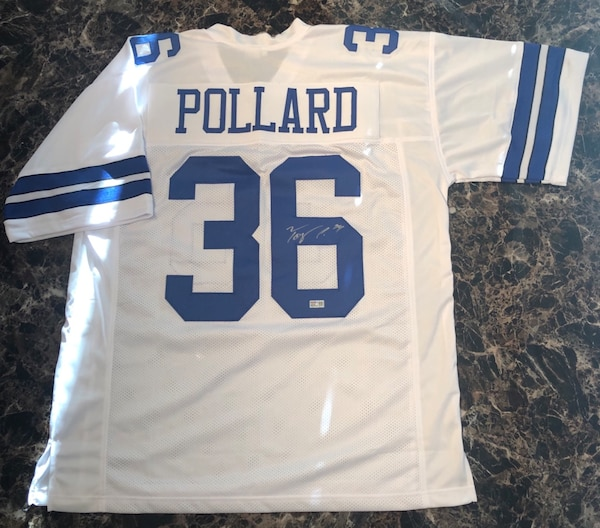 newest 3618e 39aee Authentic Tony Pollard Signed Dallas Cowboys Jersey