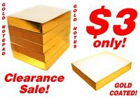Gold Notepad (500 PAGES GOLD FOIL COATING) *2019 YEAR CLEARANCE SALE, Low Prices less than $4 each!* Singapore