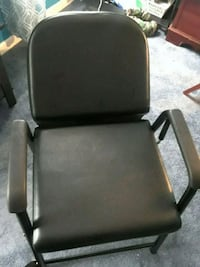 black leather padded all purpose shampoo chair Fort Washington, 20744