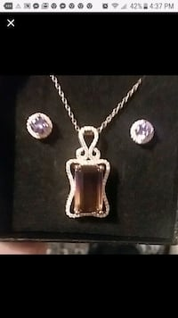 Mystic Topaz - Amethyst Jewelry Set Indian Head, 20640