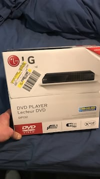 black LG DVD player box