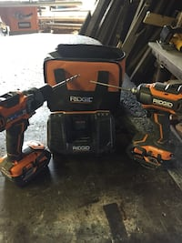 Rigid drill driver combo w 2 4.0 hr batteries fast charger and carry case Shippingport, 15077
