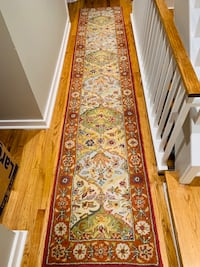 brown and green floral runner rug Reston, 20190