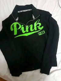 black half zip sweater from pink size small Vancouver, V5S 2N8